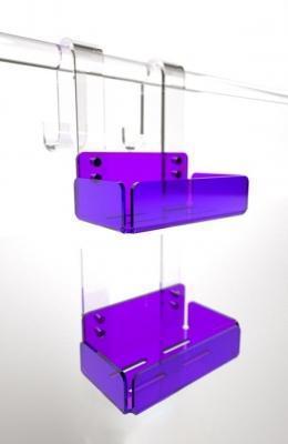 Mensola doppia porta sapone box doccia