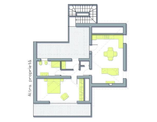 progetto di alloggio in mansarda