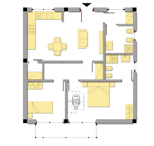 Casa a misura di anziano for Camera matrimoniale e piani bagno