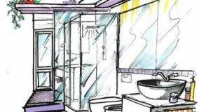 Progetto per bagno con zona lavanderia