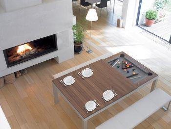 Tavolo cucina-biliardo Metal Line di Fusion Tables