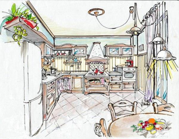 progetto cucina Shabby chic