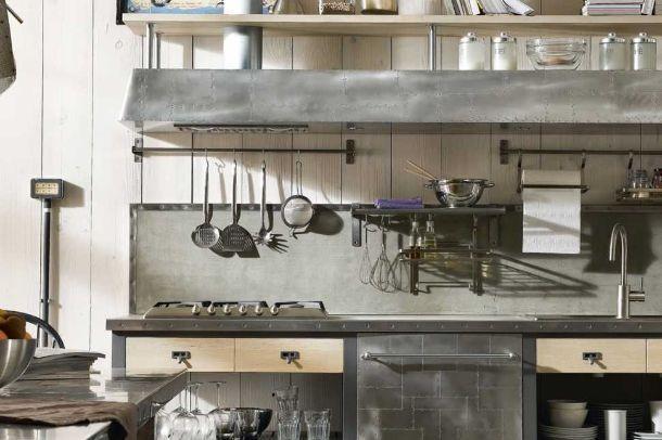 Cucine dal look industriale