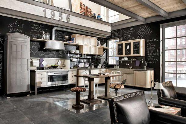 cucine dal look industriale - Cucine Loft