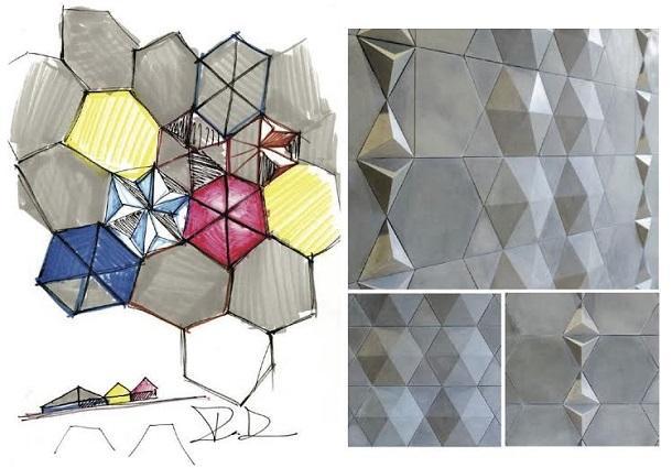 Rivestimenti e design: Cemento 3D