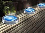 Faretti fotovoltaici incassati con pannelli fotovoltaici integrati Solar Blue Deck.