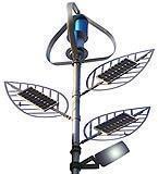 Albero con foglie formato da pannelli fotovoltaici integrati, catalogo azienda SEI Elettrotecnica