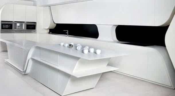 cucina futuristica Wave(di A-Cero)