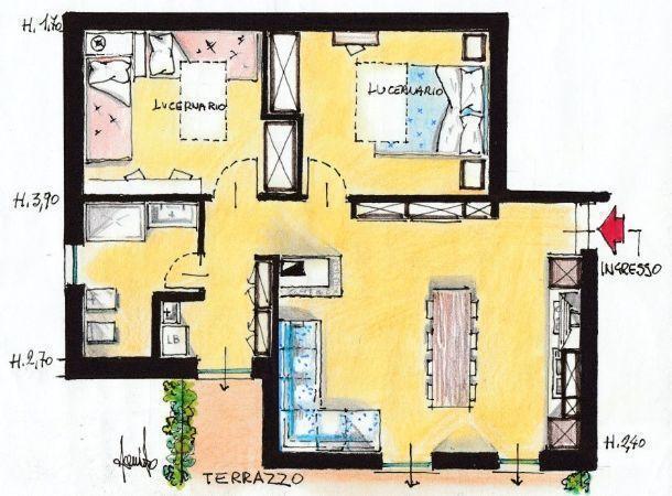 Villetta in campagna for Piani di progettazione di appartamenti