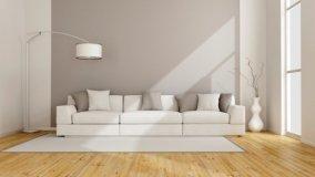 Progetto d'arredo per un soggiorno total white