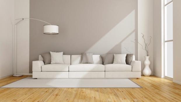 Soggiorno total white for Arredamento total white