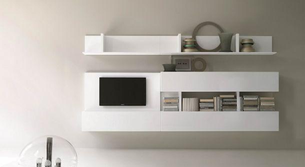 soggiorno total white - Soggiorno Total White