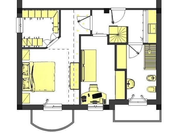 Progetto camera da letto con bagno e cabina armadio for Progettare camera da letto online