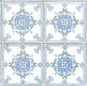 Azulejo con motivi ornamentali ripetivi, utilizzate per la realizzazione di pavimenti e rivestimenti parietali.