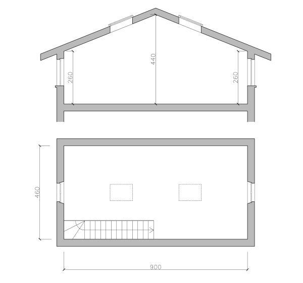 Creare due camerette in mansarda for Piani di casa eplans