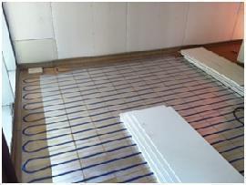 Riscaldamento a pavimento con posa a secco