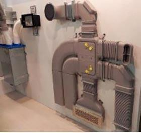 L'ingombro di parte dell'impianto di ventilazione interno