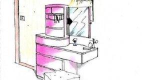 Cassettiera trasformabile in mobile toilette: idea di progetto