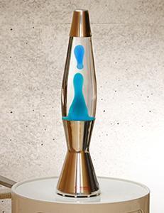 Una classica lampada lavica, dal catalogo dell'Azienda Mathmos.