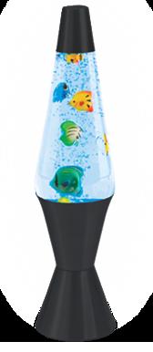 Lampada lavica modello Aquarium, dal catalogo dell'Azienda Lava Lite.