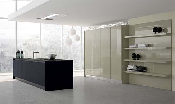 Cucina su misura dal look minimal