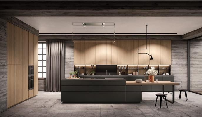Cucina moderna chiara su misura di Ingrosso mobili