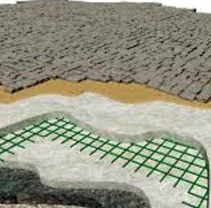 L'armatura con rete in fibra di vetro del massetto