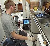 Fase di ispezione video Tubus System