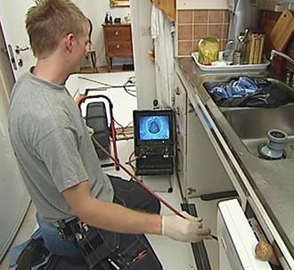 Una fase della video ispezione Tubus System