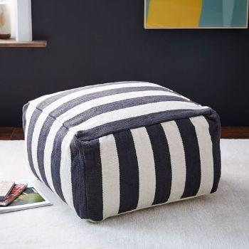 pouf stripes Westelm.com