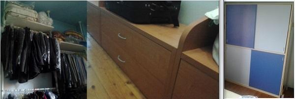 Armadio e cabina armadio nella stessa camera: adattare i vecchi mobili