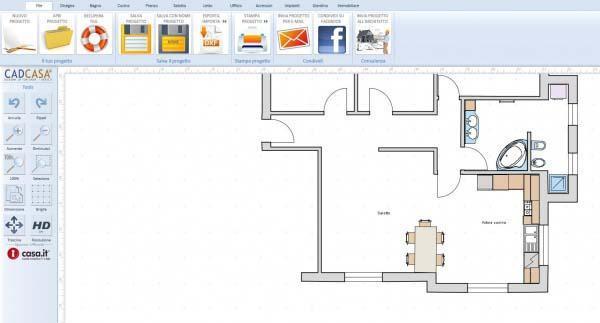 Armadio e cabina armadio nella stessa camera for Disegnare planimetria casa online