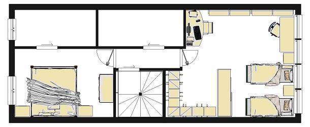 Armadio e cabina armadio nella stessa camera