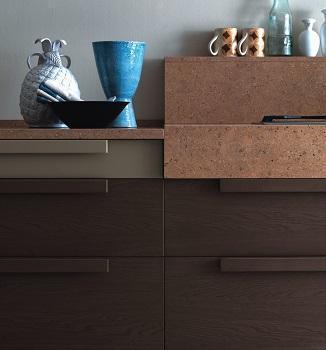Cucine moderne in legno: Asso Cucine, Sintesi 13 particolare