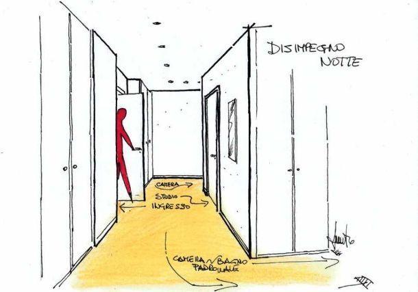 armadi a muro su misura: un progetto funzionale per l'ingresso - Ampio Armadio Allinterno Idee Progettuali