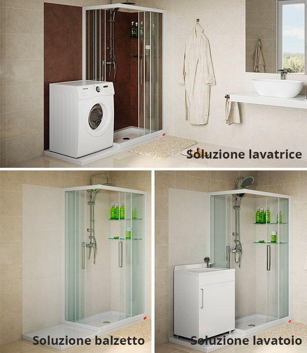 Sostituire vasca con doccia inserendo anche la lavatrice