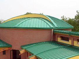 tipologia di tetti metallici a bassa pendenza di Megadar