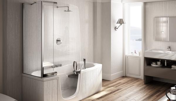 Vasca Da Mettere Sopra : Parete in vetro temperato per vasca da bagno posot class