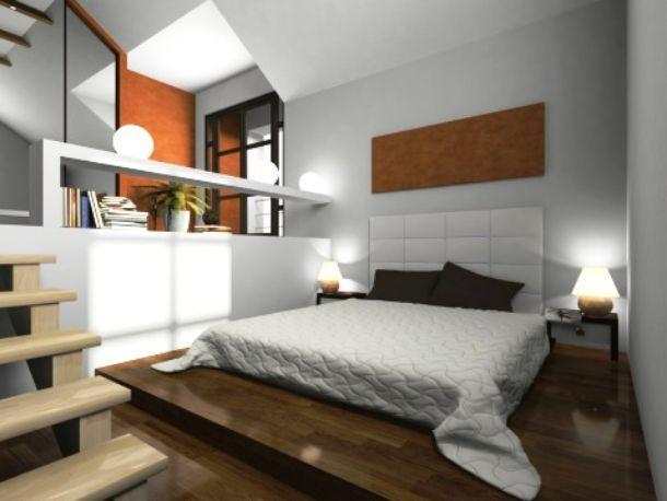 Nella foto visualizziamo un gioco di quote in una moderna bedroom di ...