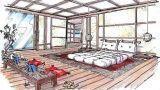 Camera da letto in stile orientale: idea di progetto