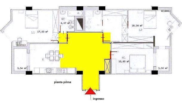 Pianta appartamento: una fase progettuale