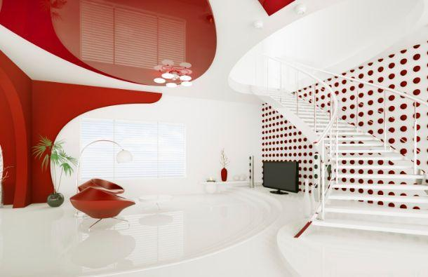 Open space su più livelli con arredi di design