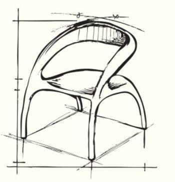 Fase progettuale di poltroncina di design