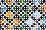 Un mosaico dell'Alhambra di Granada.