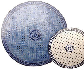 Piani di tavolo in stile marocchino, dal catalogo dell'Azienda GIM Arts.