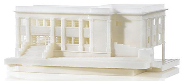 Con la stampa 3D è possibile anche ottenere modelli di edifici precisi e dettagliati.