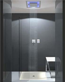 Sistema per doccia emozionale Emotion Ray, dal catalogo dell'Azienda Stenal.