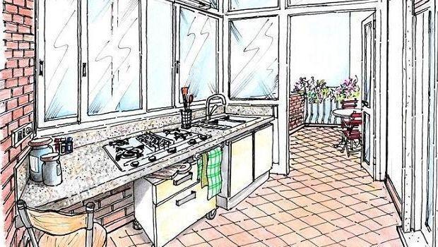Veranda Cucina In Muratura Esterna.Angolo Cottura In Veranda Come Progettarlo