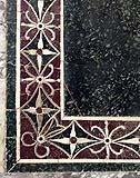 Tarsia bizantina in porfido rosso e verde antico.
