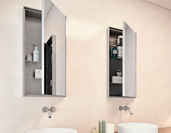 Arredo bagno salvaspazio - Armadietto bagno con specchio ...